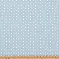 Mini Dot Weathered Blue White Twill Drapery Fabric by Premier Prints - 30 Yard Bolt