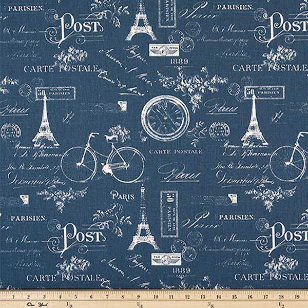 Paris Chenille Linen  Curtain//Craft Fabric