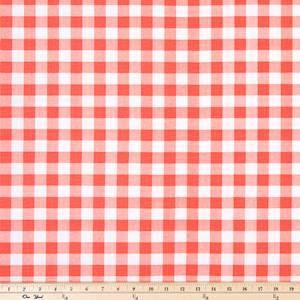 Plaid Coral Drapery Fabric By Premier Prints 30 Yard Bolt