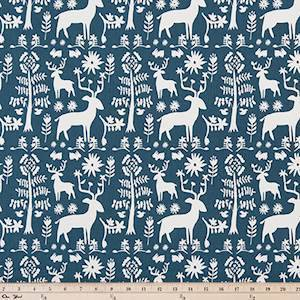 Promise Land Premier Navy Drapery Fabric by Premier Prints - 30 Yard Bolt