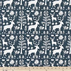 Promise Land Spruce Blue Drapery Fabric by Premier Prints - 30 Yard Bolt