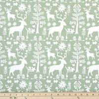 Promise Land Sundown Green Drapery Fabric by Premier Prints - 30 Yard Bolt