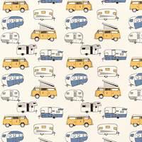 Vintage Camper Chill Macon Drapery Fabric by Premier Prints - 30 Yard Bolt