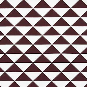 Large Dimensions Maroon White Drapery Fabric By Premier Prints 30
