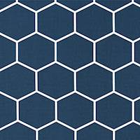 Shapes Vintage Indigo Drapery Fabric by Premier Prints