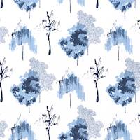 Sycamore Vintage Indigo Drapery Fabric by Premier Prints