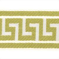 "2 5/8"" Athens Key Lime Greek Key Tape Trim"