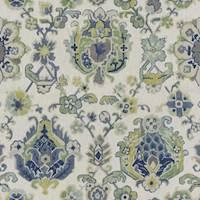 Saroukrug KF Ultramarine Blue Ikat Linen Drapery Fabric