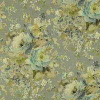 Macbeth Heather Grey Floral Drapery Fabric