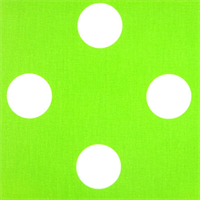 Oxygen Dot Chartreuse Green White by Premier Prints