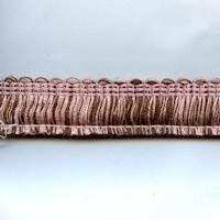 """Layla Choco-Pink 1"""" Brush Fringe"""