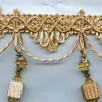 IR4481APC Beige/Gold Tassel Fringe