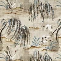 Tancho Parchment Cotton Print Drapery Fabric