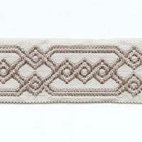 """GY200/14 Ivory Gray 2.25"""" Tape Trim from Classical Elements"""