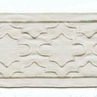 "Shina Canvas Ivory White 4"" Tape Trim"