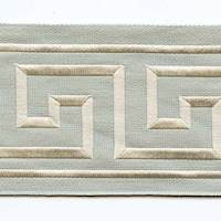 "Liaz Canvas Aqua Beige 4"" Tape Trim"