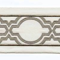 "Ogee Run Canvas Ivory Gray 4"" Tape Trim"