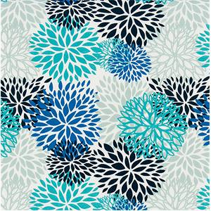 Outdoor Blooms Blue Vista Fabric by Premier Prints