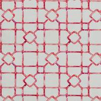 Dinah Fruit Punch Pink Lattice Drapery Fabric by Covington