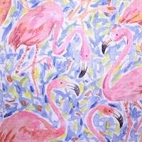 Flamingo Flock Pink Drapery Fabric