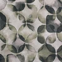 Jub Entwine Metallic Green Printed Velvet Upholstery Fabric