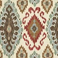 Lena Mocha Ikat Drapery Fabric by Belle Maison