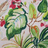 Takara Palm Tropical Floral Drapery Fabric