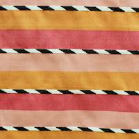 Grizzley Stripe Punch Latex Backed Outdoor Fabric by Al Fresco