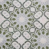 Duster Resort Green Embroidered Home Decor Fabric