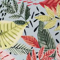Martinique Happy Leaf Coral Home Decor Fabric - Order a Swatch
