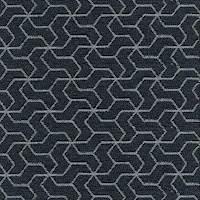 Lapis Blue Geometric Upholstery Fabric 13SEIEE