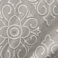 Gigani Embroidery Beige Drapery Fabric