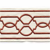 "Maze Brick Red 4"" Tape Trim"