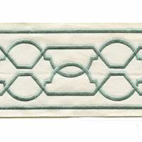 "Maze Sage Green 4"" Tape Trim"