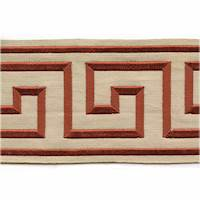 "Felix Brick Greek Key 4"" Tape Trim"