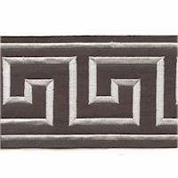"Felix Silver Greek Key 4"" Tape Trim"
