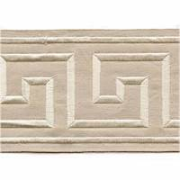 "Felix Sand Greek Key 4"" Tape Trim"