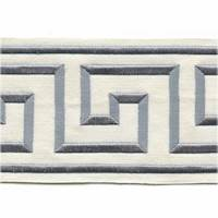 "Felix Platinum Greek Key 4"" Tape Trim"