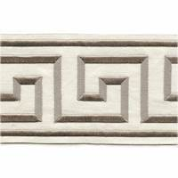 "Felix Natural Greek Key 4"" Tape Trim"