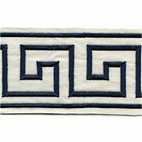 "Felix Navy Blue Greek Key 4"" Tape Trim"