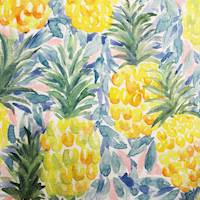 Ananas Yellow Pineapple Home Decor Fabric