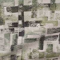 Crossways Seaglass Green Geometric Upholstery Fabric 13SEGGA
