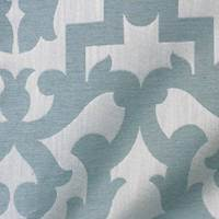 Cleopatra Glacier Blue Linen-Blend Upholstery Fabric