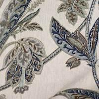 Ishara Indigo Floral Linen Fabric