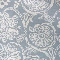 Cotton Floral Fabric in Blue