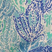 Let's Cha Cha Blue Cotton Fabric