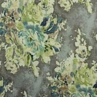 Venus Cindersmoke Grey Floral Drapery Fabric