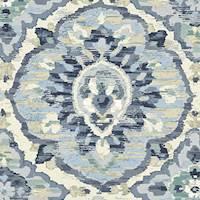 Zari Delft Blue Drapery/Upholstery Fabric