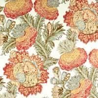 Balinese Garden Rhubarb Drapery Fabric