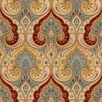 Latika Circus Paisley Linen Drapery Fabric